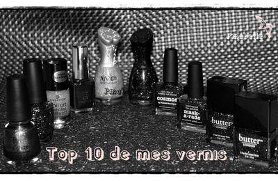 mon top 10 ... mes vernis ...