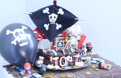 Le gâteau d'anniversaire du pirate Gaston !