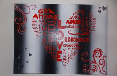 "Tableau ""l'amour international"""
