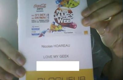 Love My Geek sera à la Paris Games Week 2012 !