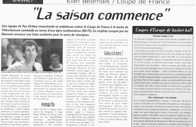 Sport - Sports Aquitains - Elan Béarnais - Avril 2002