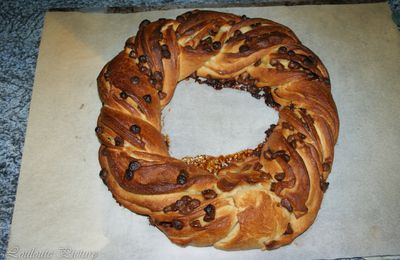 Kringle estonien aux pépites de chocolat