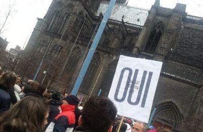 """Presse: Un millier de manifestants disent Oui au """"mariage pour tous"""" à Clermont-Ferrand"""