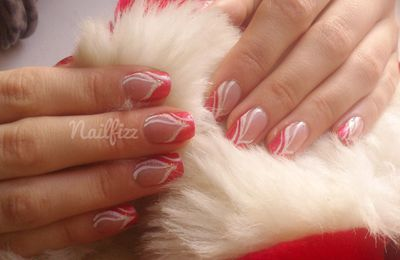 Nail art de noel (reproduction Bianca Friedrich)