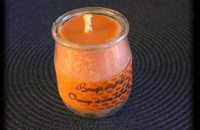 Bougie maison - Cire d'abeille et orange