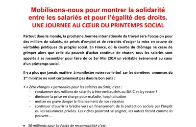 1er mai : tract intersyndical Manche