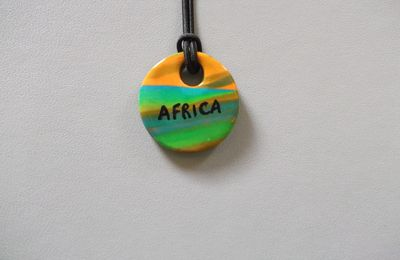 AFRICA2 : Collier Africa 5€ (Perle marbrée)