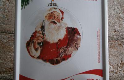 Plaque père noël Coca-Cola
