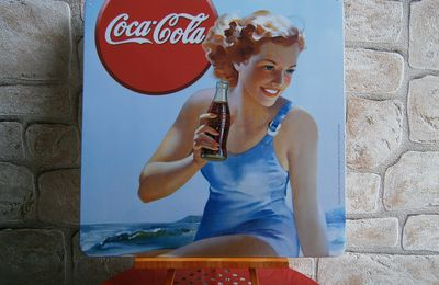 Plaque pin up Coca-Cola