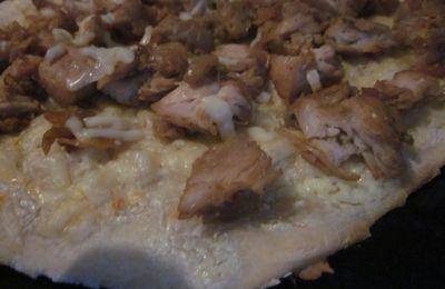 PIZZA POULET AU COLOMBO