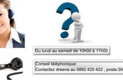 Nouveau: dreena mets en place le conseil téléphonique personnalisé