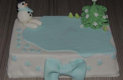 Gâteau pâte à sucre de noël
