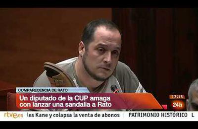 Diputado de CUP llama gángster a Rodrigo Rato y le lee la cartilla