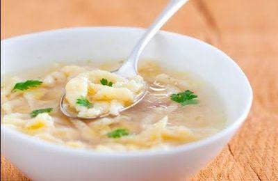 Recette de soupe de poulet aux vermicelles maison