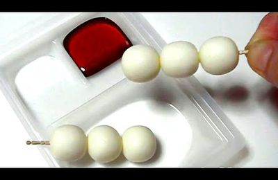bOUFFE JAPONAISE: Coris #5 - Mitarashi Dango shaped soft candy (Edible / can eat)