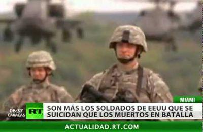 Mueren + soldados americanos x suicidios que x las batallas: 18 se suicidan cada dia… significativo ¿verdad?