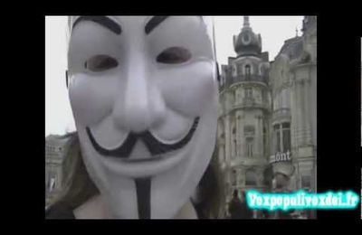 Manif Anonymous Montpellier du 28/04/2012