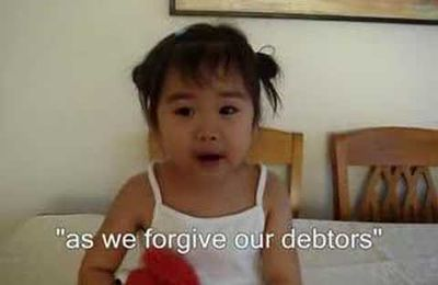 The Lord's Prayer By 2 Year Old