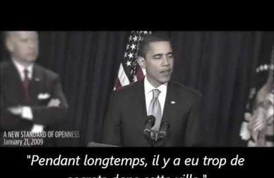 Le Président Obama : la transparence promise est-elle au rendez-vous ?