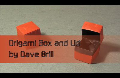 Origami Instructions: Box and Lid by Dave Brill