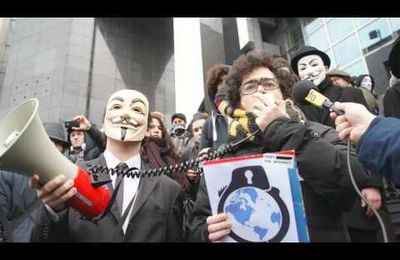 Anonymous Speech manifestation Opéra Bastille