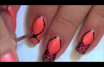 Tuto nail art : Princess's Necklace