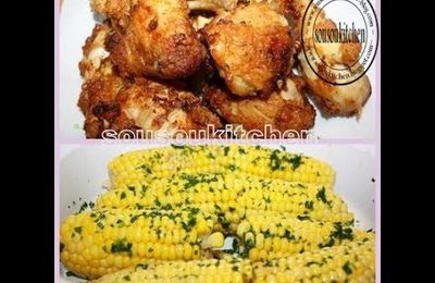 Fried Chicken and Corn