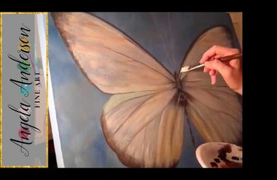 Butterfly Time Lapse Painting