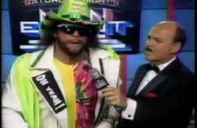 MACHO MAN RANDY SAVAGE REJOINT LE TRES HAUT...