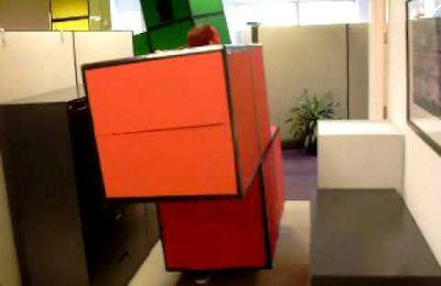 Tetris : quand l'open space devient une console de jeu