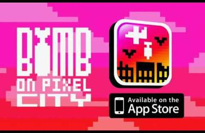 Bomb on Pixel City, le premier jeu Gamopat Studio sur iPhone