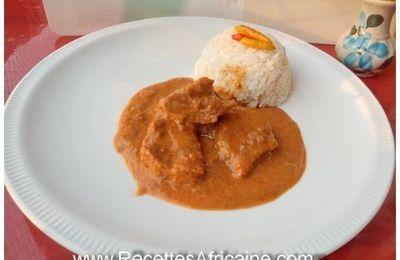 Cuisine Simplifié et rapide : Mafé, Maffé, Maffe, sauce d'arachide (French), tigadèguèna or tigadenena