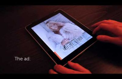 Blood wipes on iPad fur ad