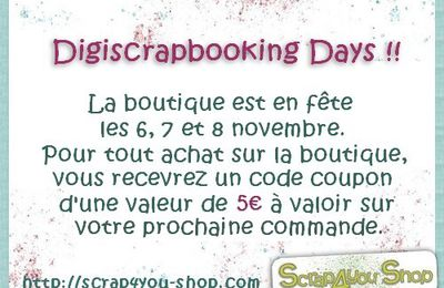Digiscrapbooking Day sur Scrap4you Shop!!