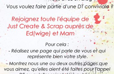 Appel à DT Just Create and Scrap !