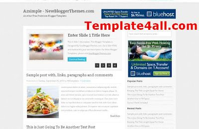 Free Chrome Magazine Blogger Template
