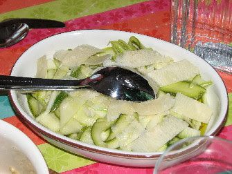Courgettes marinées