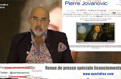 P. Jovanovic - Revue de presse spéciale licenciements (Novembre 2016)