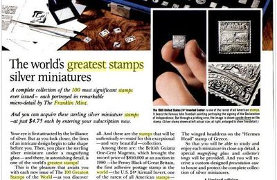 Les timbres en argent de « The Franklin Mint »