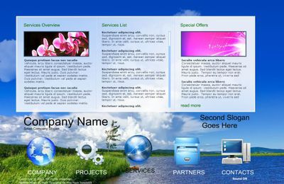 Technology Business Free Flash Website Template