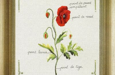 "Grille de broderie ""Coquelicot"""