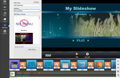 Creating DVD Slideshow with Menu on Mac