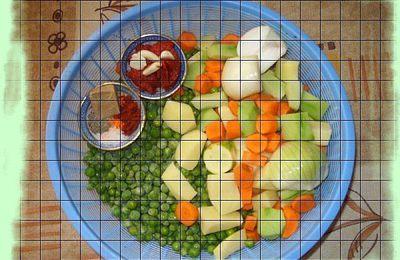 Cocotte de légumes en sauce