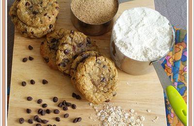 Cookies aux pépites de chocolat, avoine et noisettes