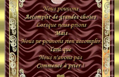 ~~ Accomplir de grandes choses ~~