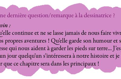 Interview 2011 : Le mot de la fin (2)
