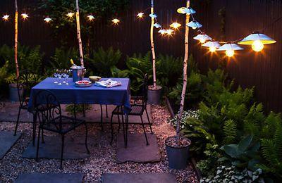 Lumières portatives pour la terrasse