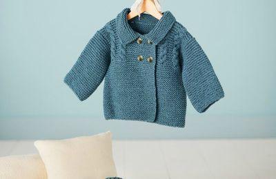Veste BB et chaussons à tricoter: adorable !