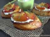 crostinis prunes ricotta