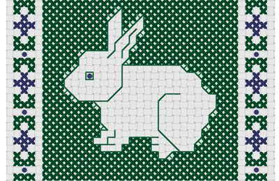 Lapin en broderie d'Assise